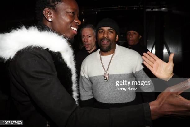 Michael Blackson Barry Mullineaux and DJ Clue attend Church On Sundays Hosted By Nicki Minaj And Phil The Mayor And DJ Clues Birthday Party at The...