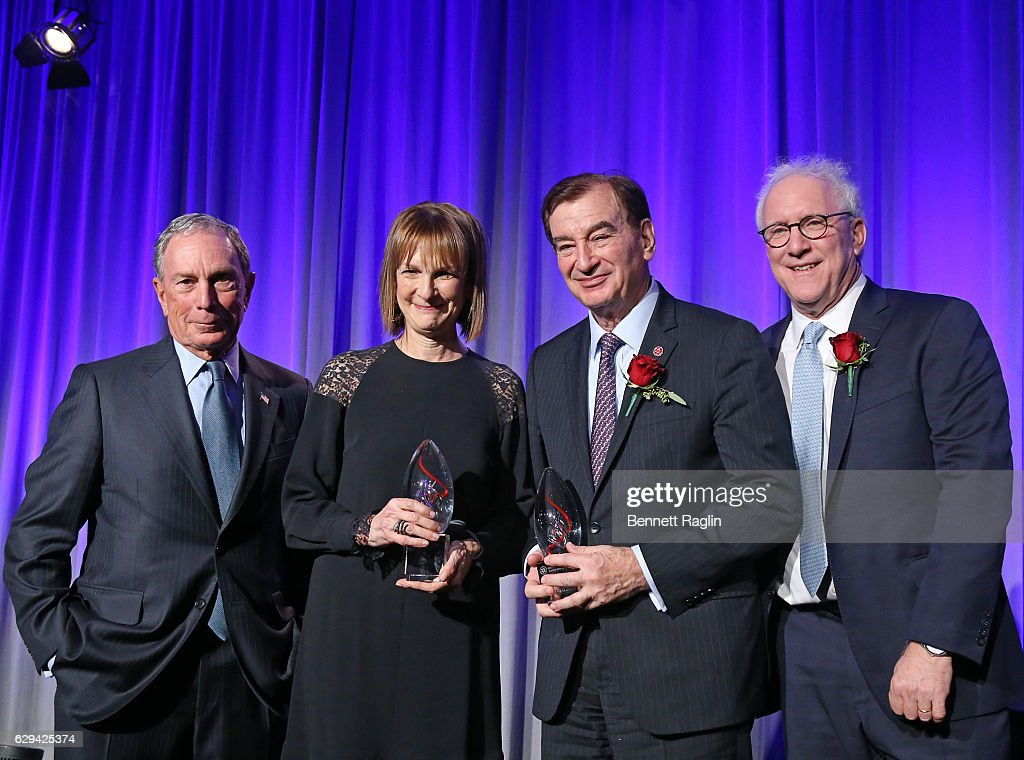 Michael Bloomberg, 2016 Visionary Award Honorees Mark Lebow, Chairman,AFMDA, Patricia Harris, CEO, Bloomberg Philanthropies, and David Frankel, CEO, AFMDA attend the American Friends Of Magen David Adom New York Gala on December 12, 2016 in New York City.