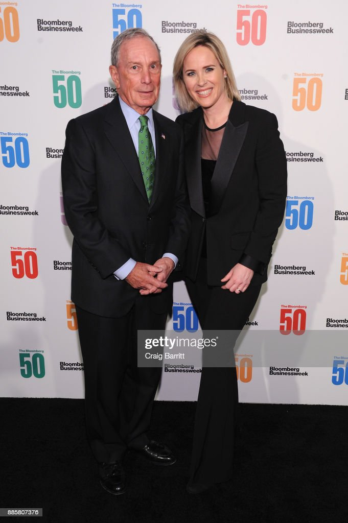 Michael Bloomberg (L) and Bloomberg Businessweek Editor in Chief Megan Murphy attend 'The Bloomberg 50' Celebration at Gotham Hall on December 4, 2017 in New York City.