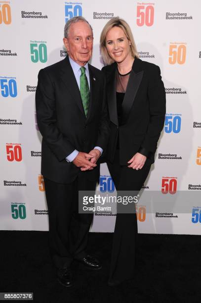 Michael Bloomberg and Bloomberg Businessweek Editor in Chief Megan Murphy attend 'The Bloomberg 50' Celebration at Gotham Hall on December 4 2017 in...