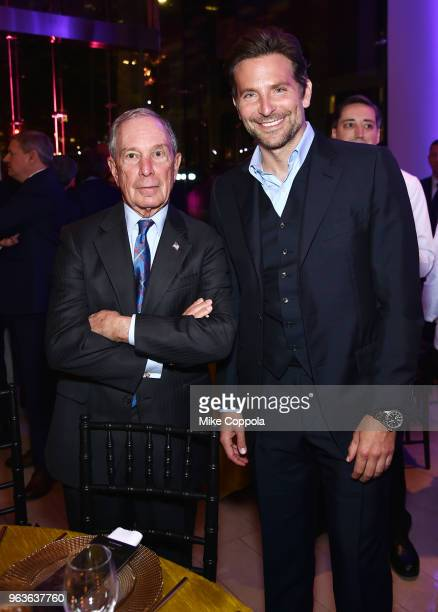 Michael Bloomberg and Bradley Cooper attend Lincoln Center's American Songbook Gala at Alice Tully Hall on May 29 2018 in New York City
