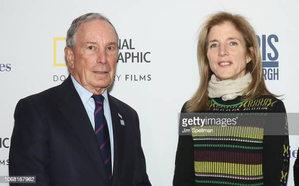Michael Bloomberg and Caroline Kennedy attend the New York premiere of Paris to Pittsburgh hosted by Bloomberg Philanthropies and RadicalMedia at...