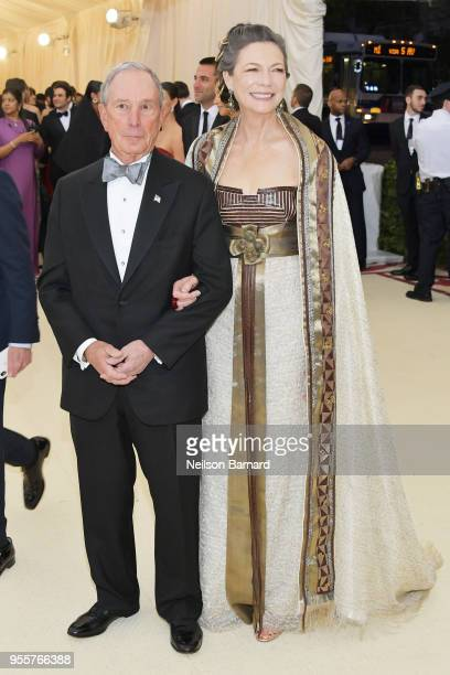 Michael Bloomberg and Diana Taylor attend the Heavenly Bodies Fashion The Catholic Imagination Costume Institute Gala at The Metropolitan Museum of...