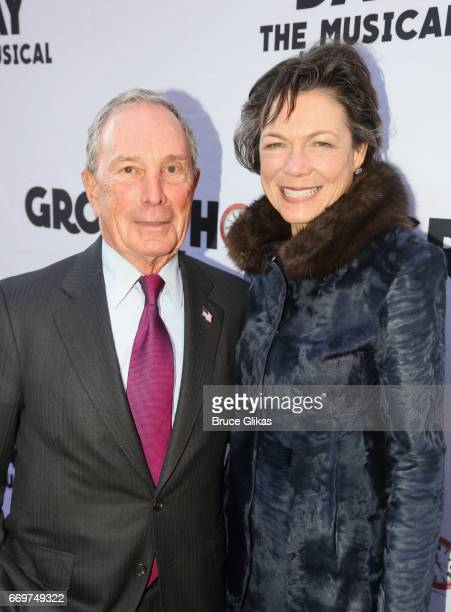 Michael Bloomberg and Diana Taylor pose at the opening night of the new musical based on the film Groundhog Day on Broadway at The August Wilson...
