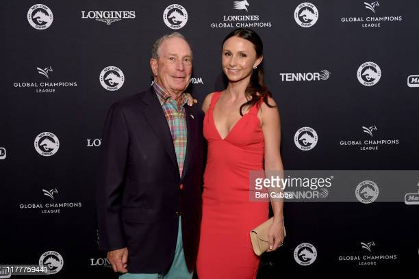 Michael Bloomberg and Georgina Bloomberg attend the Celebration of The Inaugural Longines Global Champions Tour Of New York with Georgina Bloomberg...