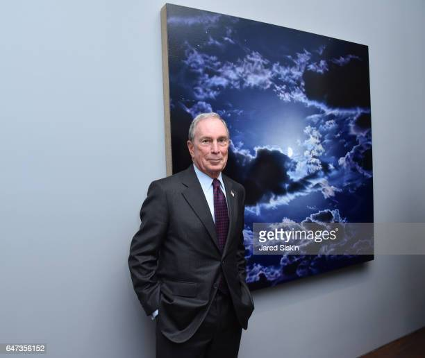 Michael Bloomberg attends Damian Loeb Sgr A* at Acquavella Galleries on March 2 2017 in New York City