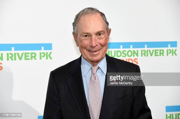 Michael Bloomberg attends the Hudson River Park Annual Gala at Cipriani South Street on October 17, 2019 in New York City.