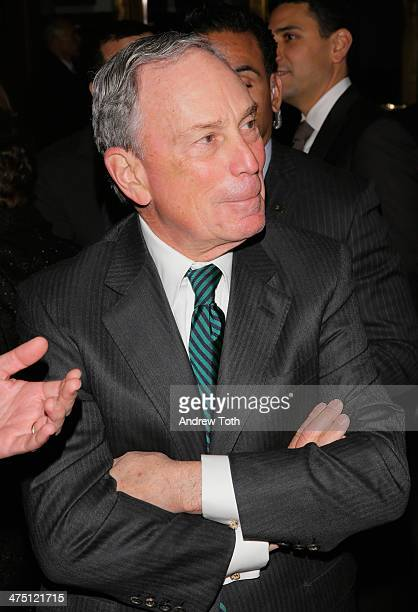 Michael Bloomberg attends the Jewish Museum's Purim Ball 2014 at Park Avenue Armory on February 26 2014 in New York City
