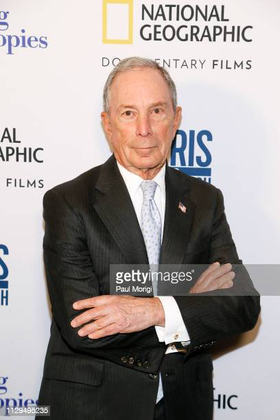 "Michael Bloomberg attends the ""Paris to Pittsburgh"" film screening hosted by Bloomberg Philanthropies and National Geographic at National Geographic..."