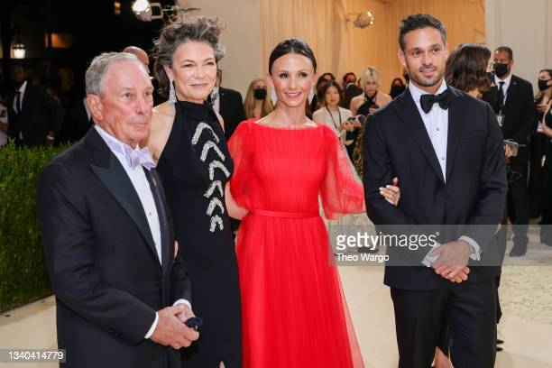 Michael Bloomberg, Diana Taylor, Georgina Bloomberg and Ramiro Quintana attend The 2021 Met Gala Celebrating In America: A Lexicon Of Fashion at...
