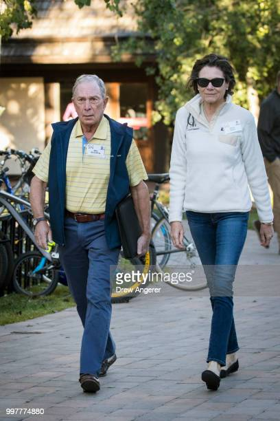 Michael Bloomberg former New York City mayor and chief executive officer of Bloomberg LP and Diana Taylor attend the annual Allen Company Sun Valley...