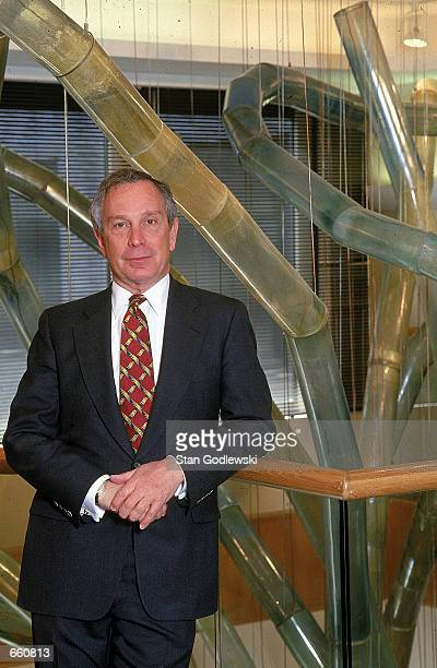Michael Bloomberg, founder and CEO of Bloomberg LP, poses for a portrait March 15, 1997 in his company's New York City offices.