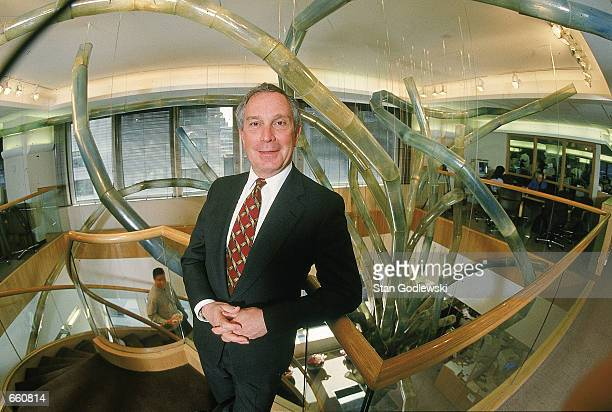 Michael Bloomberg founder and CEO of Bloomberg LP poses for a portrait March 15 1997 in his company's New York City offices