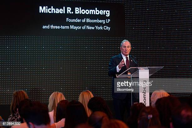 Michael Bloomberg, founder of Bloomberg LP, speaks during the Bloomberg Sustainable Business Summit in New York, U.S., on Wednesday, Oct. 5, 2016....