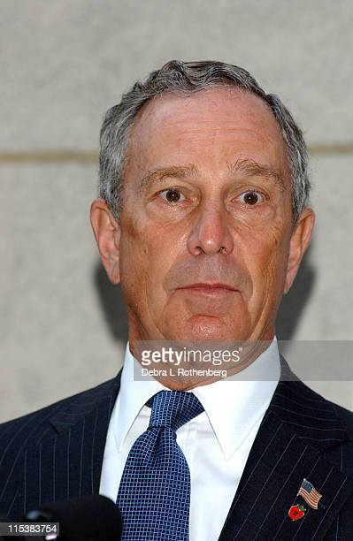 Michael Bloomberg Mayor of New York City during New York City Mayor Michael Bloomberg and American Idol Star Clay Aiken at the Opening Ceremonies of...