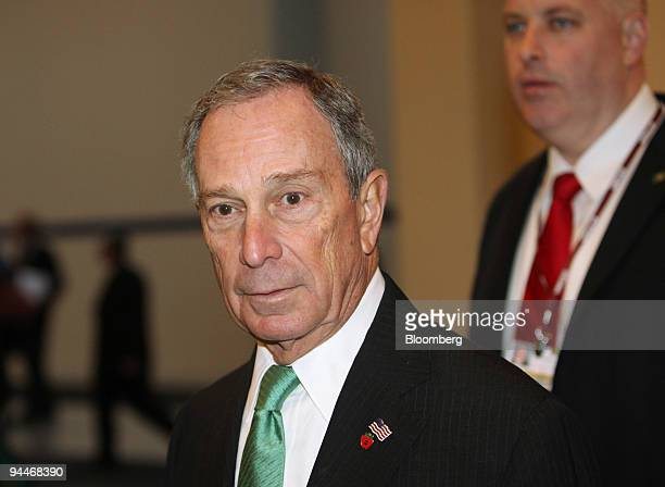 Michael Bloomberg mayor of New York City left arrives at the COP15 United Nations Climate Change Conference held at the Bella Centre in Copenhagen...