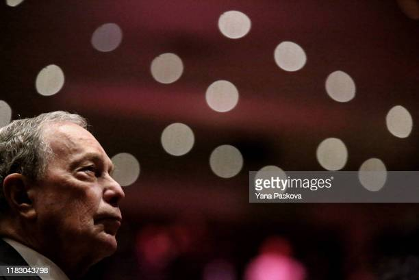Michael Bloomberg prepares to speak at the Christian Cultural Center on November 17, 2019 in the Brooklyn borough of New York City. Reports indicate...