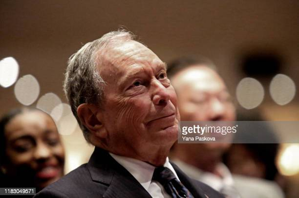 Michael Bloomberg prepares to speak at the Christian Cultural Center on November 17 2019 in the Brooklyn borough of New York City Reports indicate...