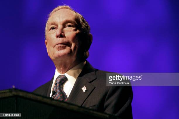 Michael Bloomberg speaks at the Christian Cultural Center on November 17 2019 in the Brooklyn borough of New York City Reports indicate Bloomberg the...