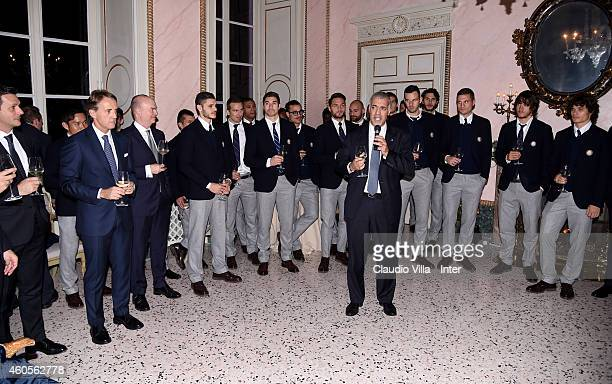 Michael Bolingbroke attends FC Internazionale Sponsor's Christmas Party at Villa Cicogna on December 16 2014 in Milano Italy