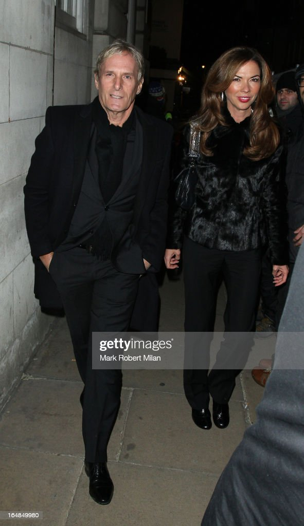 Michael Bolton and Heather Kerzner at Lou Lou's Club on March 28, 2013 in London, England.