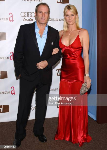Michael Bolton and Nicollette Sheridan during 14th Annual Elton John AIDS Foundation Oscar Party Cohosted by Audi Chopard and VH1 Arrivals at Pacific...