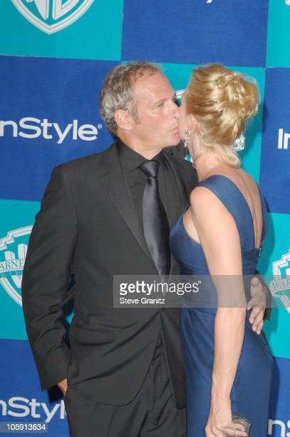 Michael Bolton and Nicollette Sheridan during InStyle Warner Bros 2006 Golden Globes After Party Arrivals at Beverly Hilton in Beverly Hills...