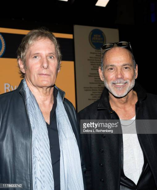 Michael Bolton and Timothy White attend the New Jersey Hall of Fame Induction at the Paramount Theatre on October 27, 2019 in Asbury Park, New Jersey.