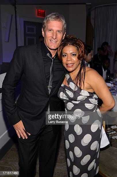 Michael Bolton and Valerie Simpson attend The Recording Academy Honors at 583 Park Avenue on June 25 2013 in New York City