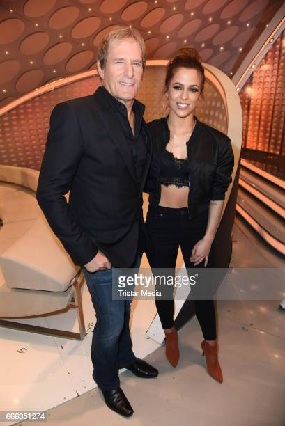 Michael Bolton and Vanessa Mai during the after show party of the television show 'Willkommen bei Carmen Nebel' on April 8 2017 in Magdeburg Germany