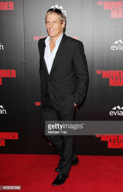 Michael Bolton arrives at the Los Angeles premiere of 'The November Man' held at TCL Chinese Theatre on August 13 2014 in Hollywood California