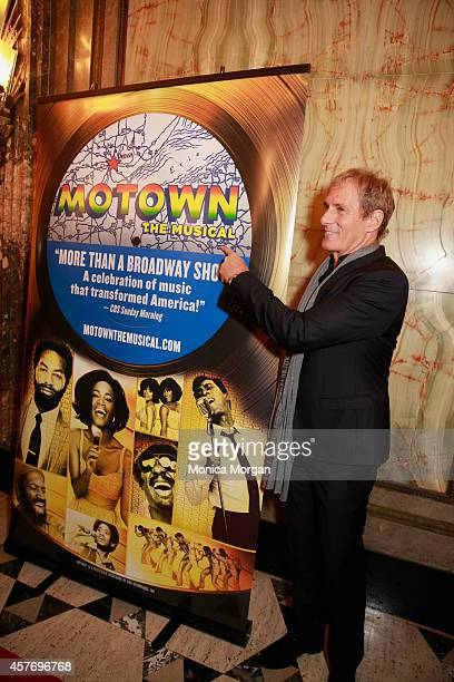 Michael Bolton attends the opening night of Motown The Musical at The Fisher Theatre on October 22 2014 in Detroit Michigan