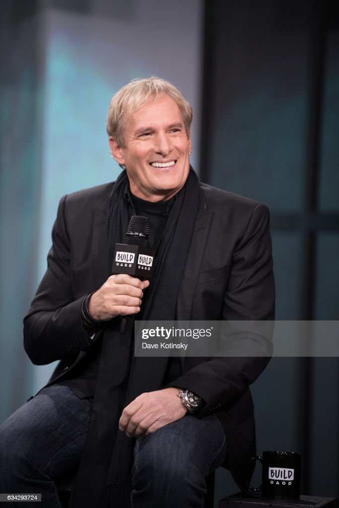 Michael Bolton discusses 'Michael Bolton's Big Sexy Valentine's Day Special' at Build Studio on February 8, 2017 in New York City.