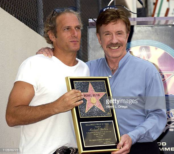 Michael Bolton during Michael Bolton Honored with a Star on the Hollywood Walk of Fame for His Achievements in Music at Hollywood Boulevard in...