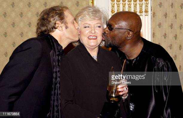 Michael Bolton Frances Preston and Isaac Hayes during The Broadcasters Foundation Presents their 2004 Golden Mike Award to Frances W Preston of BMI...