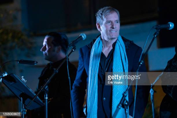 Michael Bolton performs at the Sunset Marquis on February 08, 2020 in West Hollywood, California.