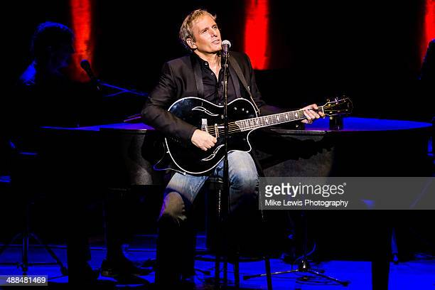 Michael Bolton performs on stage at St David's Hall on May 6 2014 in Cardiff United Kingdom