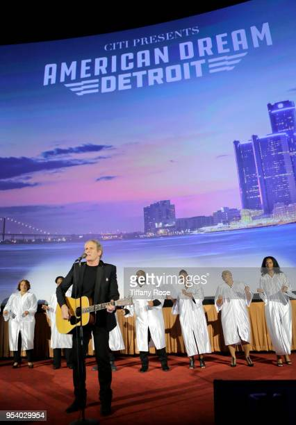 Michael Bolton performs onstage at the world premiere of American Dream Detroit at The Grove on May 2 2018 in Los Angeles California