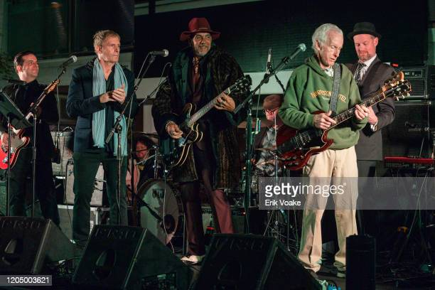 Michael Bolton performs with Robby Krieger of The Doors at the Sunset Marquis on February 08, 2020 in West Hollywood, California.