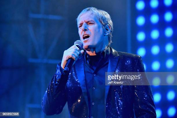 Michael Bolton performs with The Lonely Island on the Colossal Stage during Clusterfest at Civic Center Plaza and The Bill Graham Civic Auditorium on...