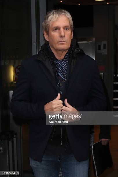 Michael Bolton seen leaving BBC Radio 2 on February 23 2018 in London England