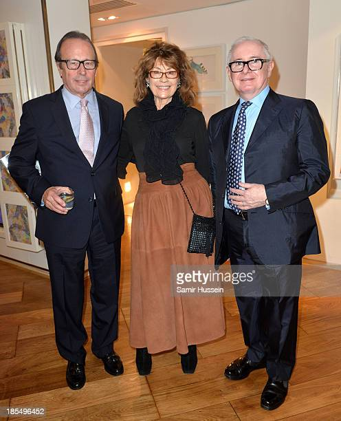 Michael Bonehill Nanette Newman John Reid Vice President NYT attend NYT tribute to legendary director and president of the National Youth Theatre...
