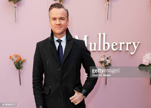 Michael Bonsor attends the Mulberry 'Beyond Heritage' SS18 Presentation during London Fashion Week February 2018 at Spencer House on February 16 2018...
