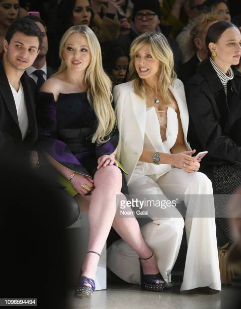 Michael Boulos, Tiffany Trump, Marla Maples and Masha Rudenko attend the Taoray Wang front row during New York Fashion Week: The Shows at Gallery II...