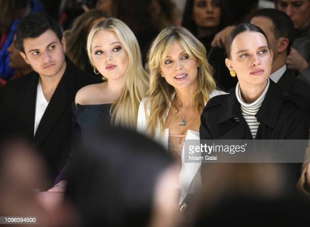 Michael Boulos Tiffany Trump Marla Maples and Masha Rudenko attend the Taoray Wang front row during New York Fashion Week The Shows at Gallery II at...