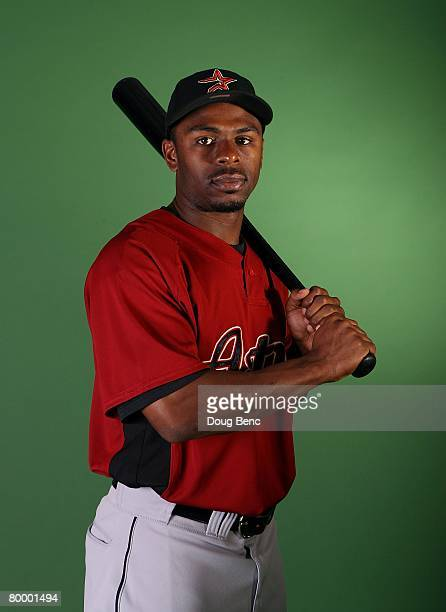 Michael Bourn of the Houston Astros poses during Spring Training Photo Day at Osceola County Stadium on February 25 2008 in Kissimmee Florida