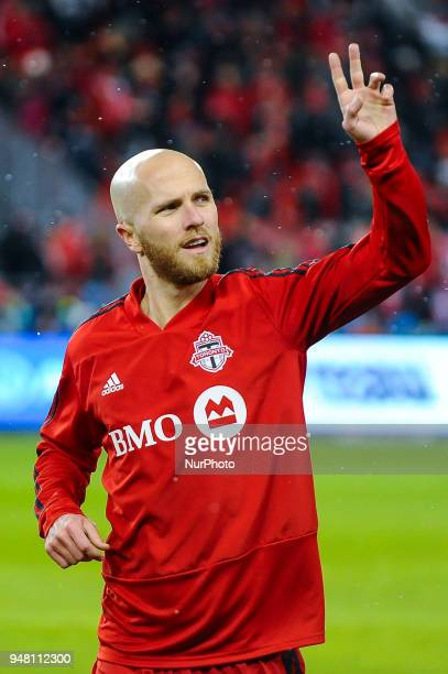 Michael Bradley during the 2018 CONCACAF Champions League Final match between Toronto FC and CD Chivas Guadalajara at BMO Field in Toronto Canada on...