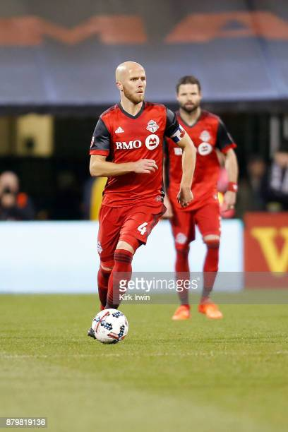 Michael Bradley of the Toronto FC controls the ball during the match against the Columbus Crew SC at MAPFRE Stadium on November 21 2017 in Columbus...