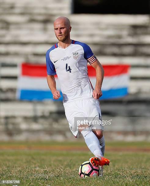 Michael Bradley of the United States controls the ball against Cuba at Estadio Pedro Marrero on October 7 2016 in Havana Cuba