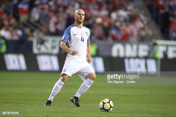 Michael Bradley of the United States in action during the United States Vs Costa Rica CONCACAF International World Cup qualifying match at Red Bull...